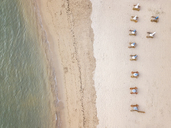 Indonesia, Bali, Aerial view of Sanur beach - KNTF01274