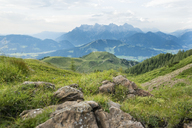Austria, Tyrol, Fieberbrunn, mountain panorama seen from Wildseeloder - PSIF00066