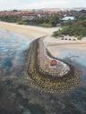 Indonesia, Bali, Aerial view of Nusa Dua beach - KNTF01297
