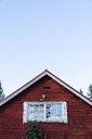 Finland, Close-up of a typically finish wood house - KKAF01733