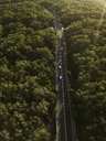 Indonesia, Bali, Aerial view of a road through forest - KNTF01309