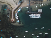 Indonesia, Bali, Aerial view of Benoa beach - KNTF01321