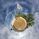 Basketball ground, little planet - STSF01736