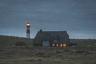 Germany, Schleswig-Holstein, Sylt, Ellenbogen, lighthouse List Ost in the evening - KEBF00943