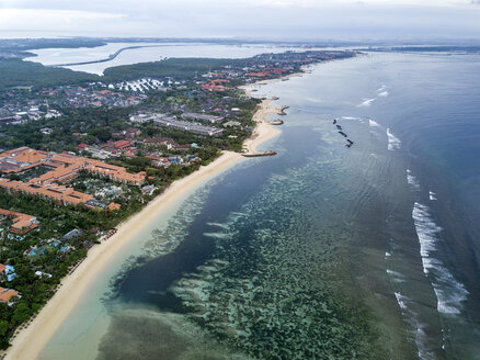 Indonesia, Bali, Aerial view of Nusa Dua beach - KNTF01339