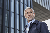 Portrait of mature businessman with grey hair and beard - RORF01511