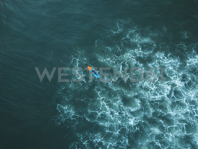 Indonesia, Bali, Aerial view of surfer - KNTF01391
