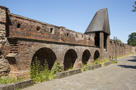 Germany, Duisburg, view of historical  town wall - WIF03597
