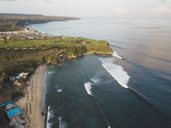 Indonesia, Bali, Aerial view of Balangan beach - KNTF01415