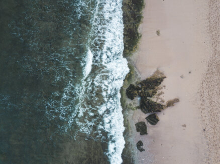 Indonesia, Bali, Aerial view of Balangan beach from above - KNTF01421