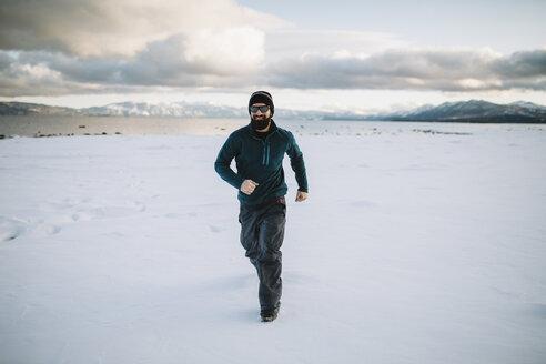 A man running in the snow - AURF04093