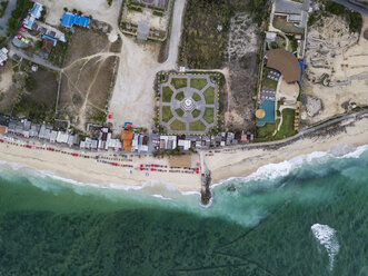 Indonesia, Bali, Aerial view of Pandawa beach - KNTF01426