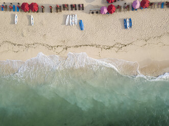 Indonesia, Bali, Aerial view of Pandawa beach - KNTF01429