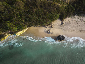 Indonesia, Bali, Aerial view of Pandawa beach - KNTF01435