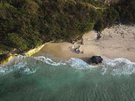 Indonesia, Bali, Aerial view of Pandawa beach - KNTF01435