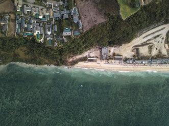 Indonesia, Bali, Aerial view of Pandawa beach - KNTF01447
