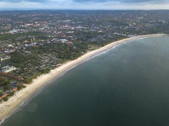 Indonesia, Bali, Aerial view of Jimbaran beach - KNTF01463