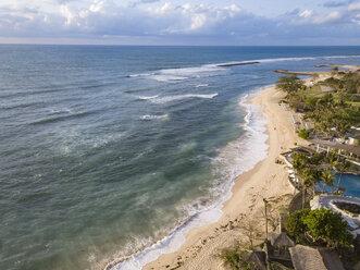 Indonesia, Bali, Nusa Dua, Aerial view of Nikko beach - KNTF01469