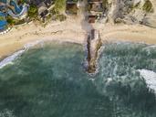 Indonesia, Bali, Nusa Dua, Aerial view of Nikko beach - KNTF01472