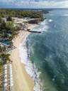 Indonesia, Bali, Nusa Dua, Aerial view of Nikko beach - KNTF01481