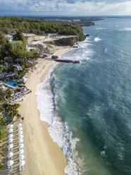 Indonesia, Bali, Nusa Dua, Aerial view of Nikko beach - KNTF01481