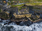 Indonesia, Bali, Aerial view of Tanah Lot temple - KNTF01514