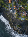 Indonesia, Bali, Aerial view of Tanah Lot temple - KNTF01517
