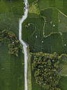 Indonesia, Bali, Aerial view of rice fields - KNTF01520