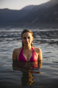 Portrait of beautiful young woman in a lake - MRAF00302