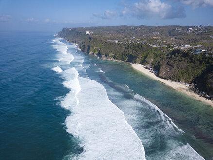Indonesia, Bali, Aerial view of Karma beach - KNTF01614