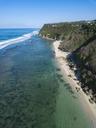 Indonesia, Bali, Aerial view of Melasti beach - KNTF01627