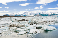 Jokulsarlon Lagoon Filled With Icebergs Nearby Glaciers In Iceland - AURF05175