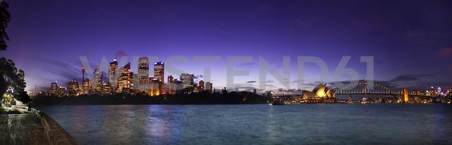 Illuminated Sydney Harbor Bridge And Opera House From Mrs Macquaries Chair - AURF05178