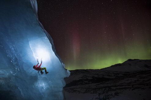Ice Climbing under Aurora - AURF05241