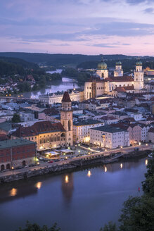 Germany, Bavaria, Passau, city view in the evening - HAMF00375