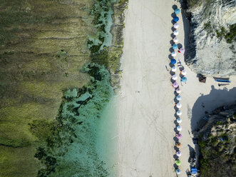 Indonesia, Bali, Aerial view of Karma Kandara beach - KNTF01671