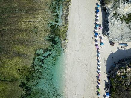 Indonesia, Bali, Aerial view of Karma Kandara beach - KNTF01671
