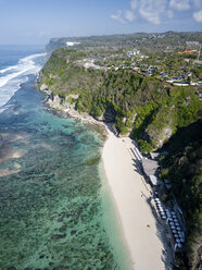 Indonesia, Bali, Aerial view of Karma Kandara beach - KNTF01674
