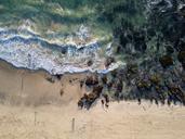 Indonesia, Bali, Aerial view of Dreamland beach - KNTF01735
