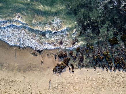 Indonesia, Bali, Aerial view of Dreamland beach - KNTF01735