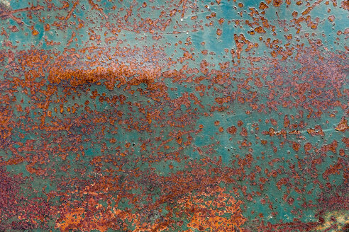 Old rusted steel sheet, detail - KLRF00699