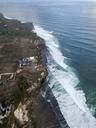 Indonesia, Bali, Aerial view of Uluwatu beach - KNTF01757
