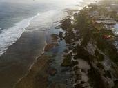 Indonesia, Bali, Aerial view of Uluwatu beach - KNTF01760