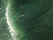Indonesia, Bali, Aerial view of surfer - KNTF01766