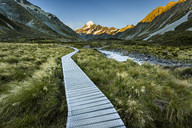 Mountain trail towards Mount Cook, Canterbury, New Zealand - AURF05468