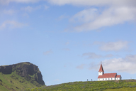 Iceland, Southern Region, Vik, church above the village of Vik - MMAF00554