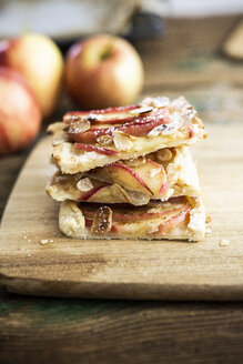 Stack of sliced home-baked Apple Pie - GIOF04496