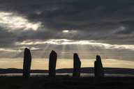 Great Britain, Scotland, Orkney, Mainland, Ring of Brodgar, neolithic stone circle - ELF01929