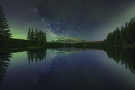 Two Jack Lake at night, Canada. - AURF05647
