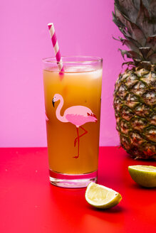 Glass of pineapple coconut icetea with lime - SBDF03745